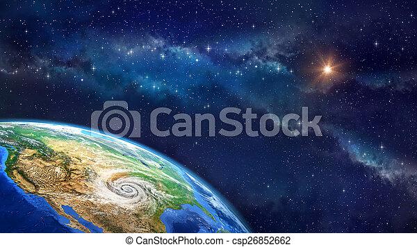 la terre, sur, ouragan - csp26852662