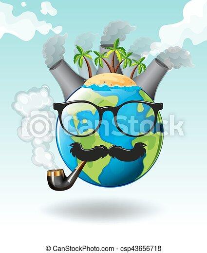 La Terre Usines Pollution Air