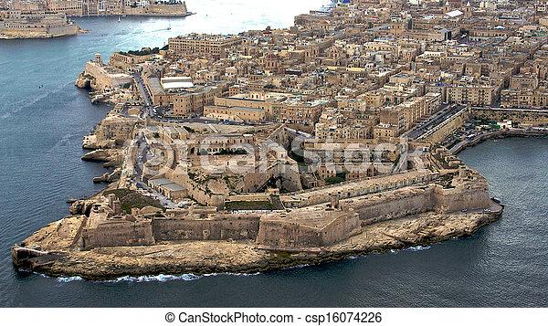 La Valetta, Malta aerial photo - csp16074226