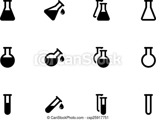 Lab flask icons on white background. - csp25917751