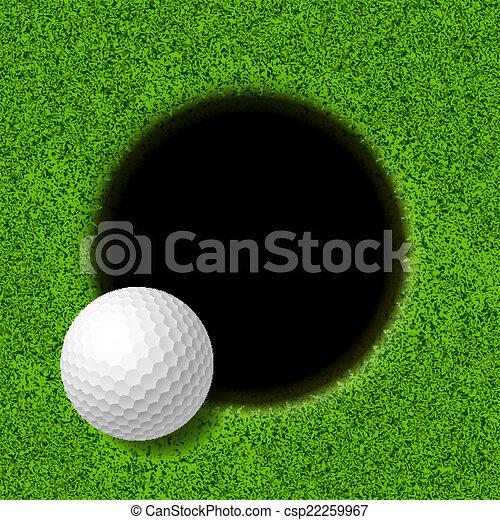 labbro, palla, golf, tazza - csp22259967