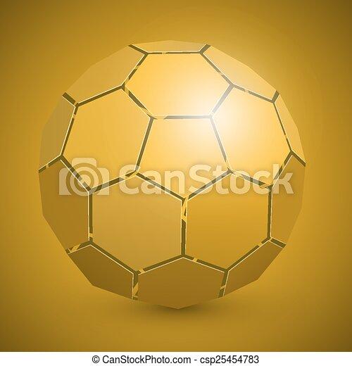labda, elvont, futball, sárga, 3 - csp25454783