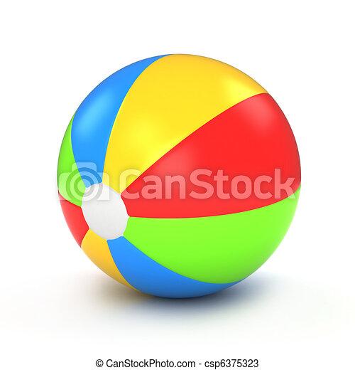 labda, tengerpart - csp6375323