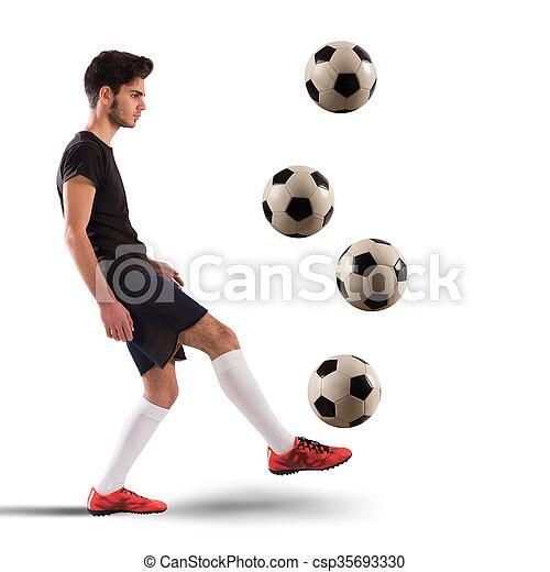 labdarúgó, tizenéves - csp35693330