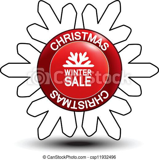label - Christmas, winter sale - csp11932496
