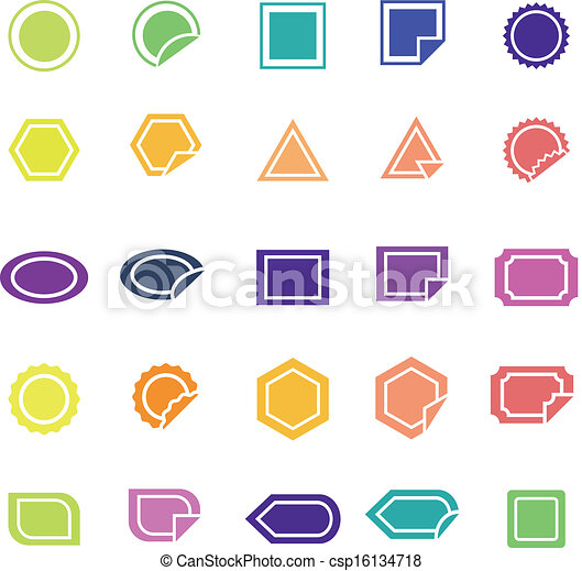 Label color icons on white background - csp16134718