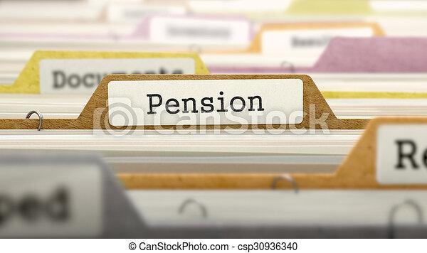 label., concept, fichier, pension - csp30936340