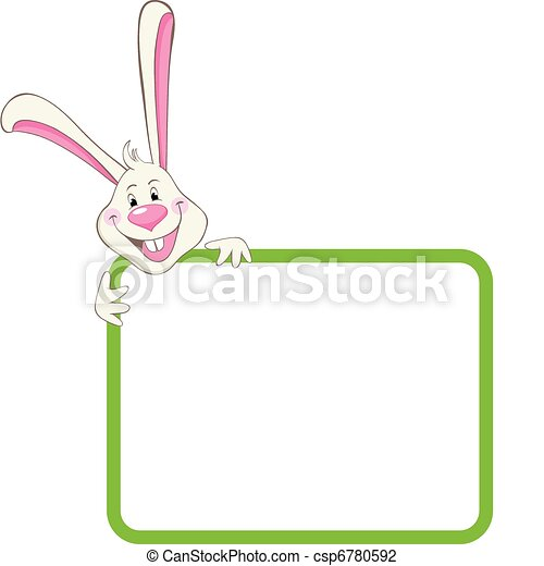 Label frame rabbit.
