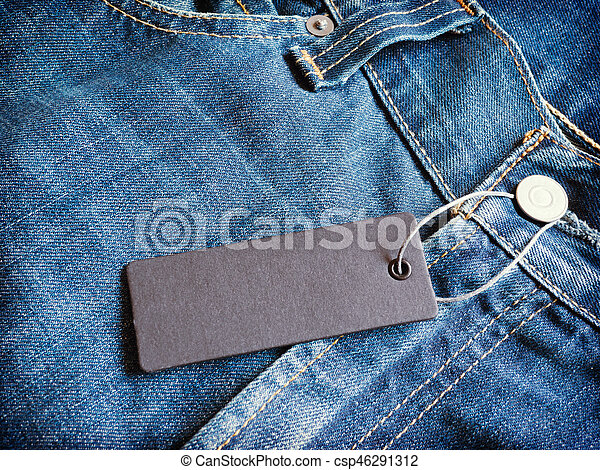 label gray price tag mockup on blue jeans label price tag mockup on
