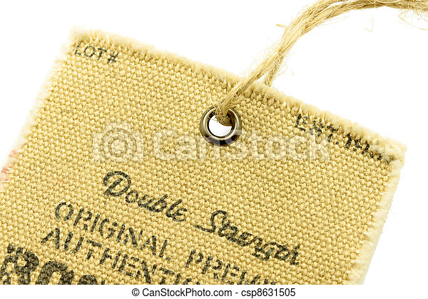 label isolated on a white background - csp8631505