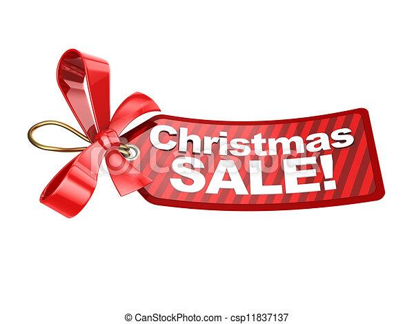 label, kerstmis, verkoop - csp11837137