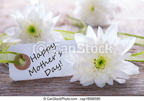 Label with Happy Mothers Day - csp18996585