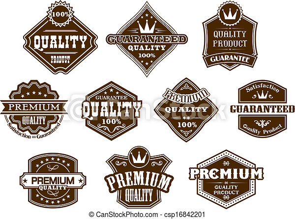Set of labels and frames in western style isolated for design. Set ...