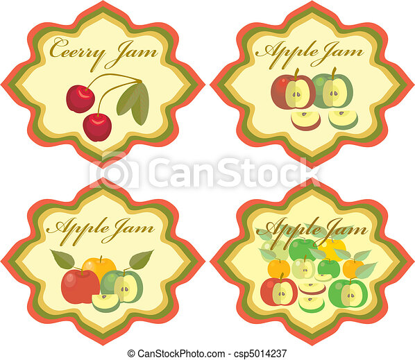 Labels Fruit - csp5014237