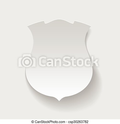 Labels in the form of shield. - csp30263782