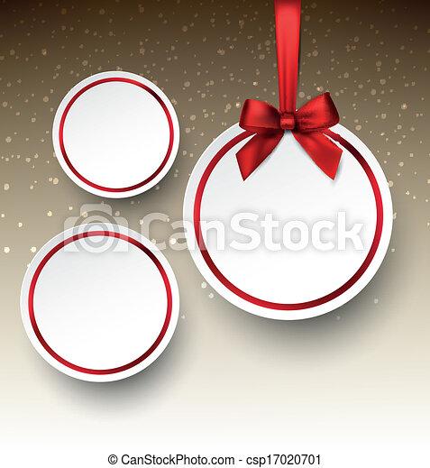 Papel blanco, etiquetas festivas. - csp17020701