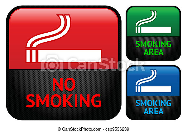 Labels set - No smoking area stickers - csp9536239