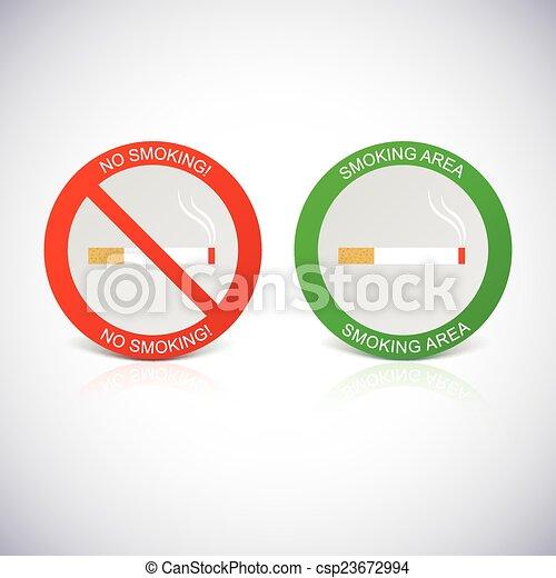 labels., vietato fumare, zona - csp23672994