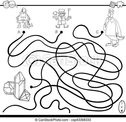 Página de colorear juegos de laberinto - csp43368333