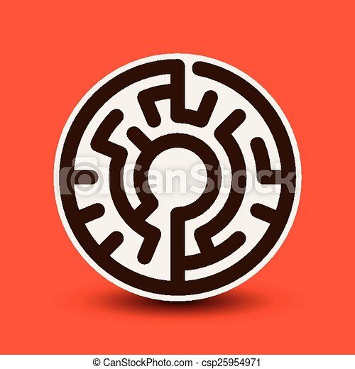 labirinto, atraente, circular - csp25954971