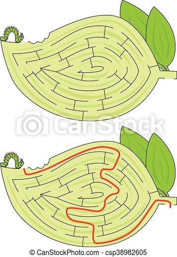 labirinto, lagarta - csp38982605