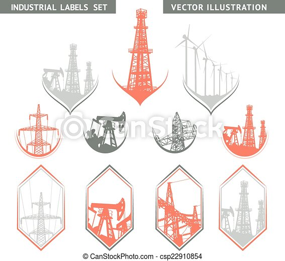 Lable industrial. - csp22910854
