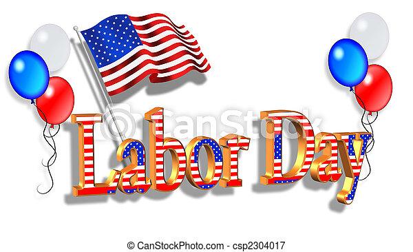 Labor Day Border graphic - csp2304017