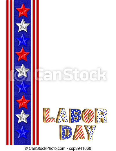labor day border illustration with red white and blue stars rh canstockphoto com clipart labor day weekend clip art labor day weekend