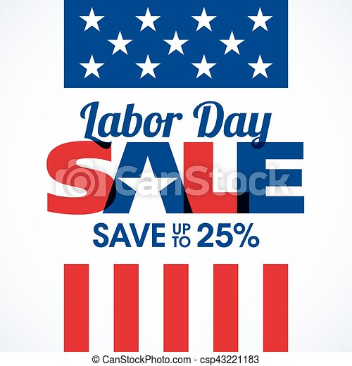 Labor Day Sale banner - csp43221183