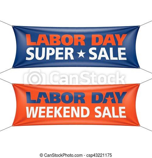 Labor Day Super Weekend Sale banner - csp43221175