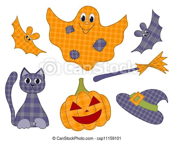 Juego de parches de Halloween - csp11159101