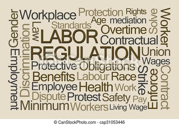 Labor Regulation Word Cloud - csp31053446