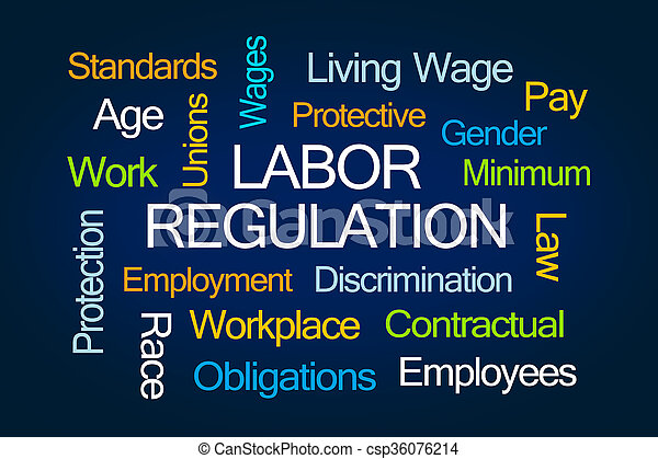Labor Regulation Word Cloud - csp36076214