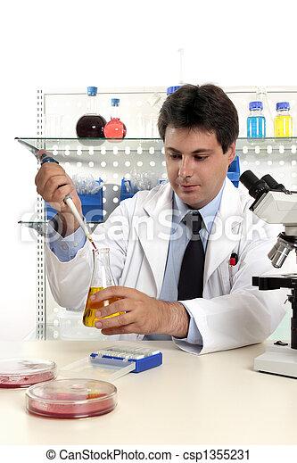 laboratórium, gyógyszerészeti, kutatás - csp1355231