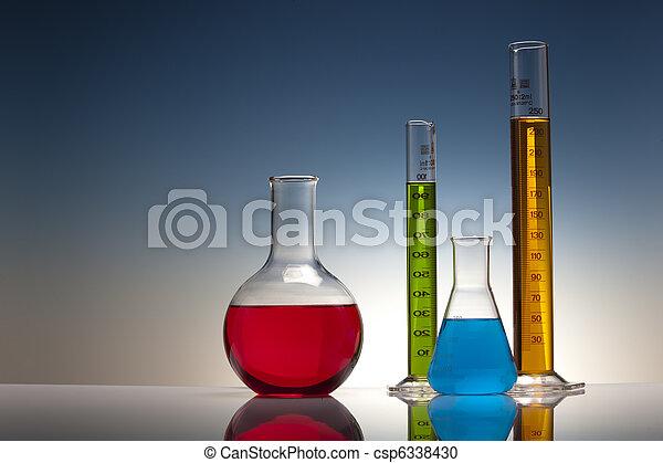 laboratoire, chimie, verre - csp6338430