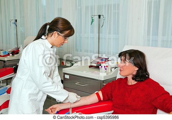 laboratorio, donaciones, sangre - csp5395986