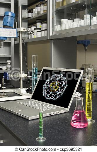 laboratorio, laptop - csp3695321