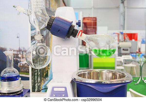 laboratorium, roterande, evaporator - csp32996504