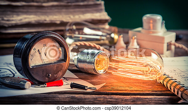 laboratorium, school, fysica - csp39012104