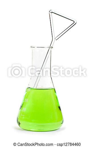 Laboratory beaker filled with liquid substances - csp12784460