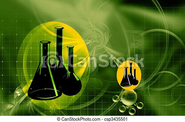 Illustration Of A Symbol Of Laboratory Vessels