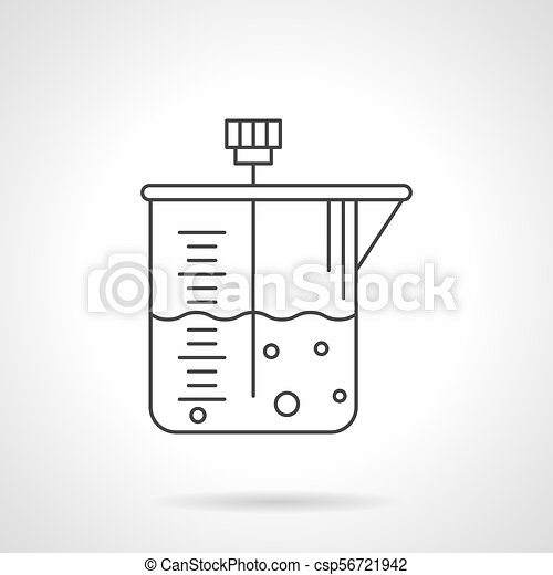 Laboratory Container Flat Line Vector Icon Symbol Of Laboratory