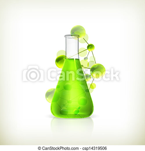 Laboratory flask, vector - csp14319506