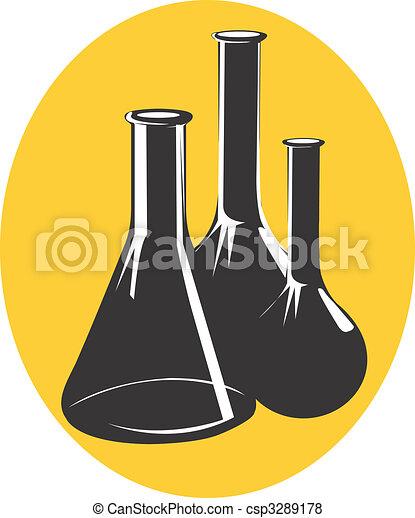 Laboratory Illustration Of A Symbol Of Laboratory Vessels