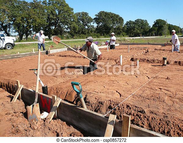 Laborer Digging - csp0857272