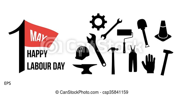 Labour Day Consept With Tool International Labour Day Clipart