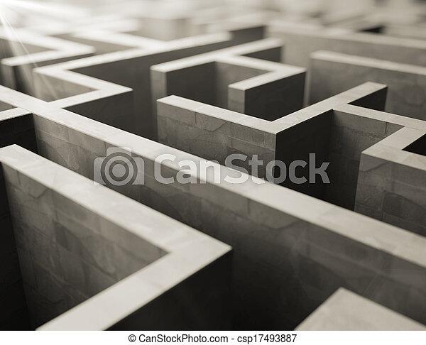 labyrint, grijs - csp17493887