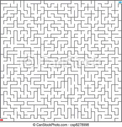 labyrint, illustration, vektor - csp8278998