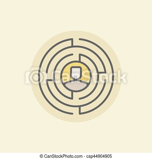 Labyrinth with man icon - csp44904905