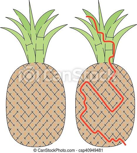 Labyrinthe Facile Ananas